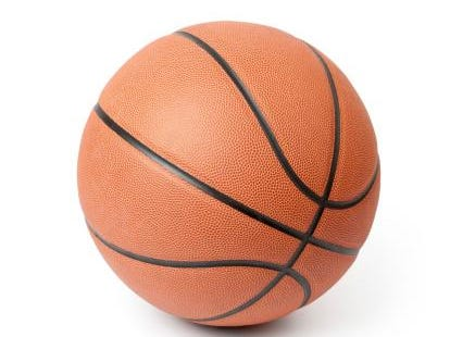 Basketball isolated on a white background. Clipping path included.