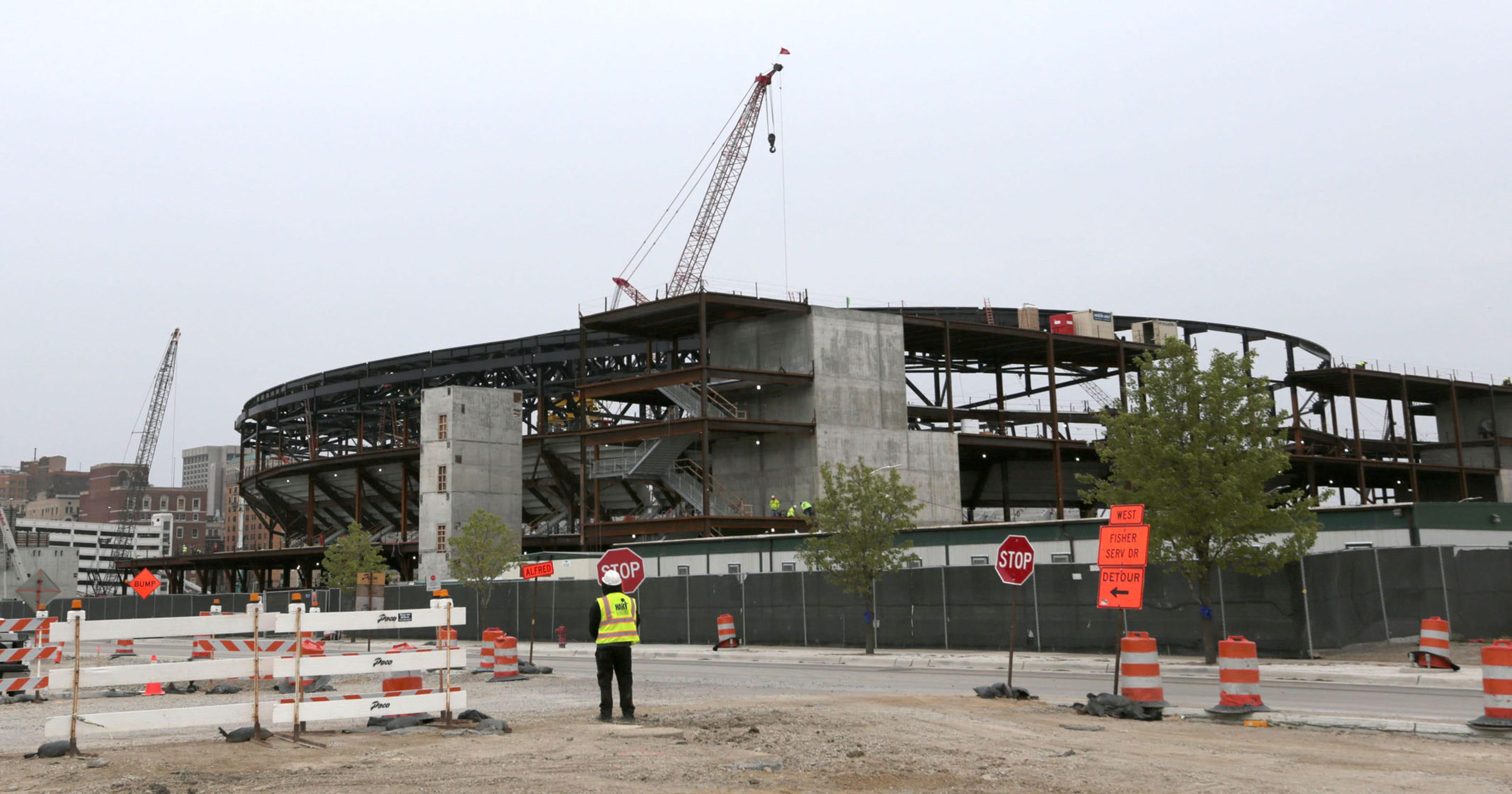 8764f9dcc79 Timelapse video  The rise of the new Detroit Red Wings arena