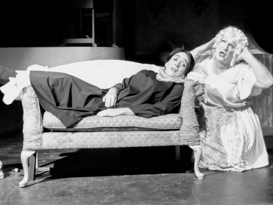 "Randy Jones (right) and Rob Green star in Lab Theater's ""Whatever Happened to Baby Jane: A Parody of the Horror."""