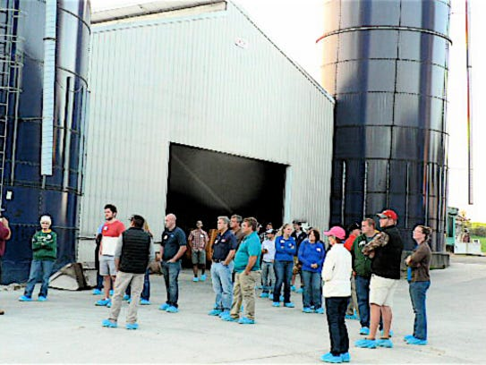 Visitors toured the barns at Ripp's Dairy Valley.