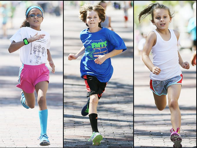 Hundreds of kids run in a series of races Sunday at