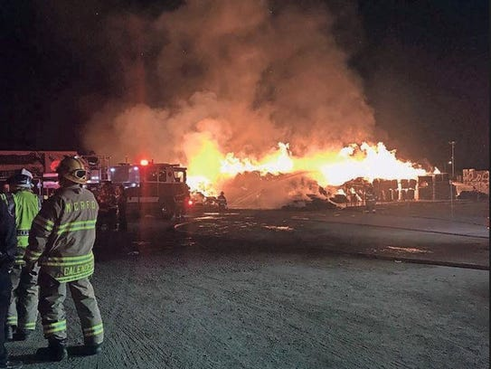 Un incendio provocado en las instalaciones de procesamiento