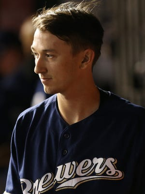 "Brewers starting pitcher Zach Davies will be ""Batboy"" for this weekend's games."