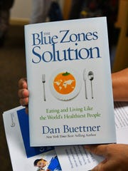 "Nick Buettner, community and corporate program director with Blue Zones, gives a Tuesday presentation in the FLORIDA TODAY Community Room. Blue Zones is a healthy living documented in the best selling book ""The Blue Zones: Lessons for Living Longer from the People Who Have Lived the Longest"", by Dan Buettner, who is Nick's brother."