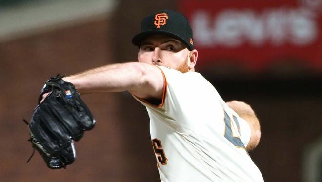 With a 2.07 ERA and 1.07 WHIP, Sam Dyson will get first crack at replacing Hunter Strickland as the Giants closer.