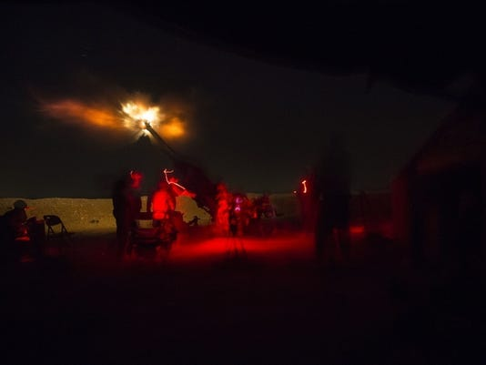Task Force Strike Soldiers shine a guiding light
