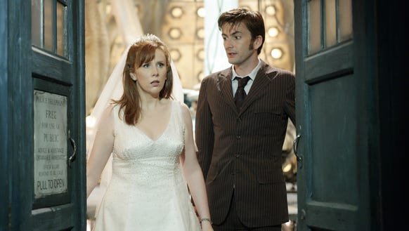 (l-r) David Tennant, Catherine Tate as Donna Noble