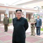 This undated picture released from North Korea's official Korean Central News Agency (KCNA) on July 3, 2016 shows North Korean leader Kim Jong-Un inspecting a newly built secondary school in Pyongyang.