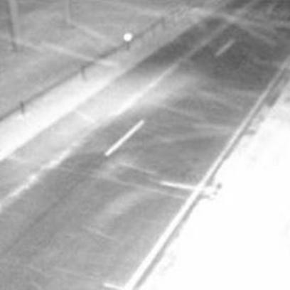 Blowing snow is captured in a DOT webcam Monday morning