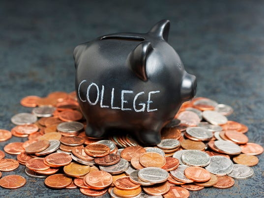 College Piggy Bank on Coins
