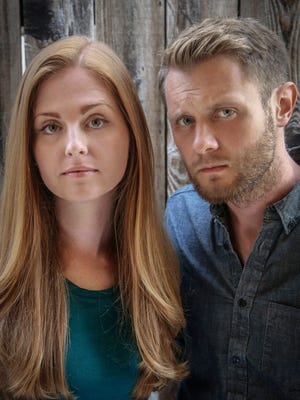"""This image released by Rodale Books, shows Michelle Davis, left, and Matt Holloway, authors of the profane-laced cookbook """"Thug Kitchen."""" (AP Photo/Rodale Books)"""