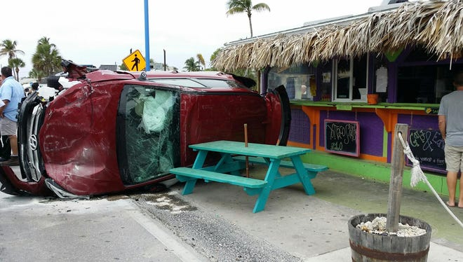 Crash with injuries at 1400 Estero Blvd on Fort Myers Beach
