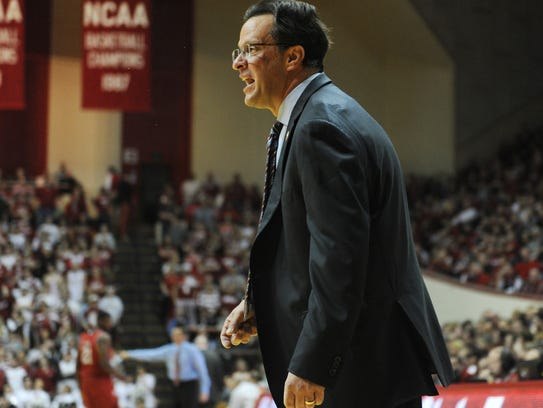 Indiana men's basketball coach Tom Crean.