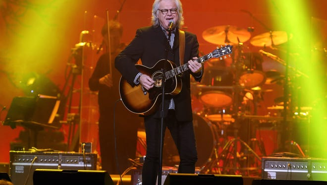 Ricky Skaggs performs during the Randy Travis tribute concert at Bridgestone Arena Wednesday February 8, 2017.