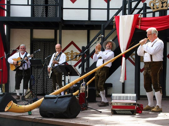 The Alpenlaendaers will entertain guests at the Pennslyvania Renaissance Faire Oktoberfest with music from Deutschland.