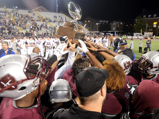 The Liberty Tech Crusaders held up their 2016 TSSAA
