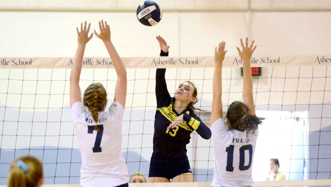 Asheville Christian Academy volleyball player Kate Condra.
