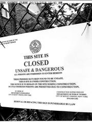 'Unsafe condition' sign placed at Mount Vernon Tennis