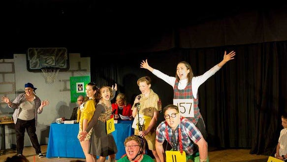 """The cast of """"The 25th Annual Putnam County Spelling"""