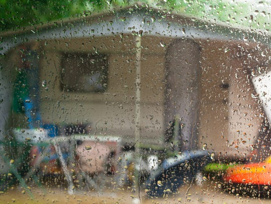 Rainy day in a caravan.