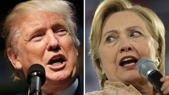 Republican presidential nominee Donald Trump and Democratic presidential nominee Hillary Clinton.