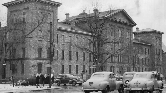 St. Mary's Hospital on Genesee Street was open during the Civil war to receive wounded Union soldiers. (Staff photo, 1/31/1946) DC.