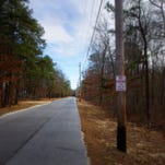 Burnt Mill Road in Atco where the ghost of a little boy is said to appear.