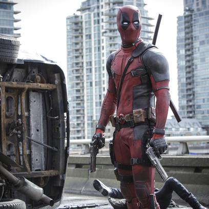 """Wade Wilson (Ryan Reyonlds) and new squeeze Vanessa (Morena Baccarin) trade some pointed barbs, in """"Deadpool."""""""