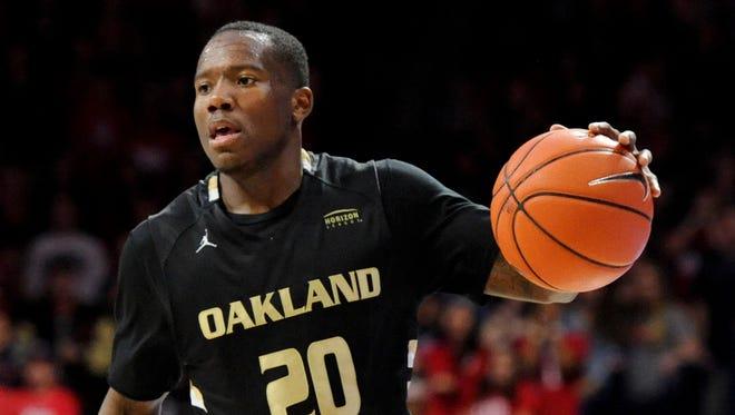 Oakland Golden Grizzlies guard Kahlil Felder