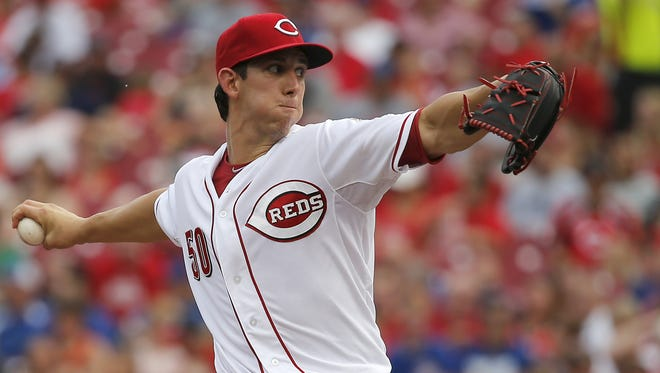 Cincinnati Reds starting pitcher Michael Lorenzen (50) delivers a pitch.
