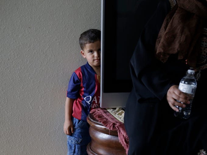 Mohannad Almasri, 2, the youngest of the four children,