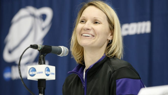 Northwestern State gave coach Brooke Stoehr her first road win of the season on Saturday.