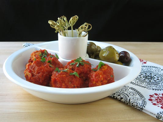 Spanish Cocktail Meatballs With Piquillo Pepper Tomato Sauce