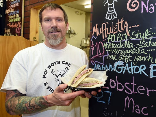 Mike Clampitt, owner and chef of Po' Boys Creole and