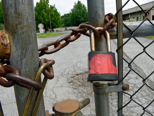 A padlock keeps visitors out onFriday, July 1, 2016