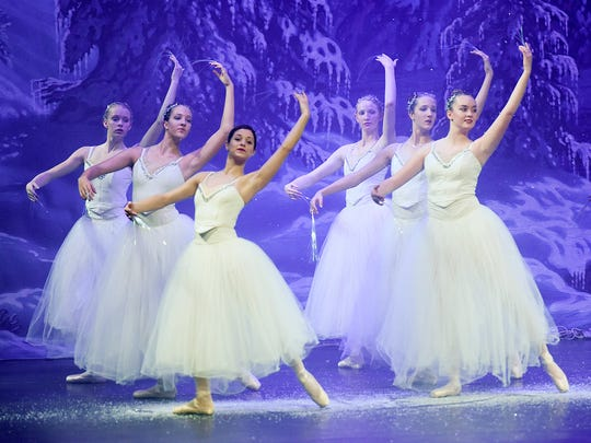 "Dancers perform in the Stroia Ballet Company's production of ""The Nutcracker"" Nov. 17, 2016 at the Paramount Theatre in St. Cloud."