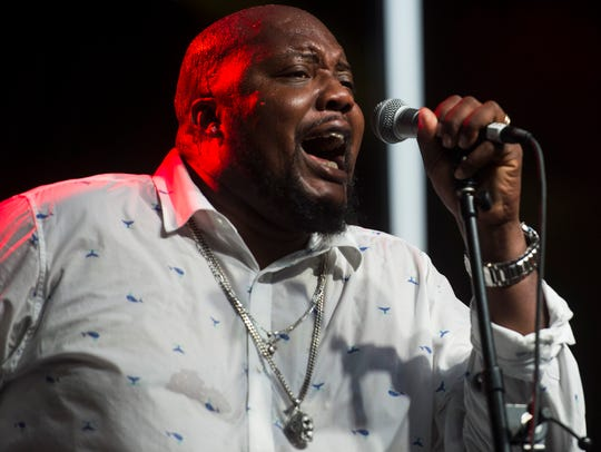 Sugaray Rayford performs during the W.C. Handy Blues