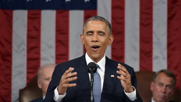President Obama at the State of the Union.