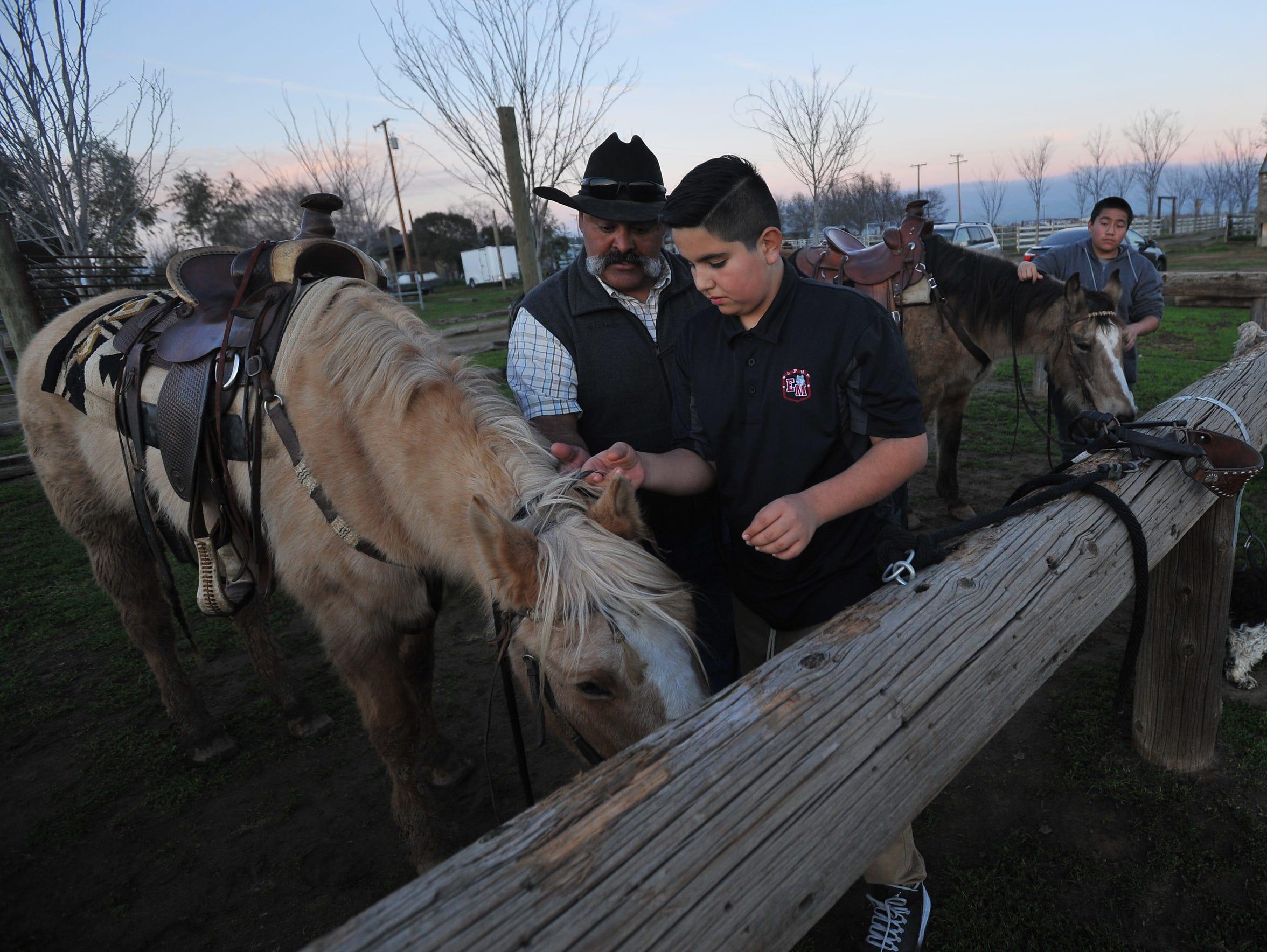 JM Ranch owner Joe Flores teaches A.L.P.H.A. student