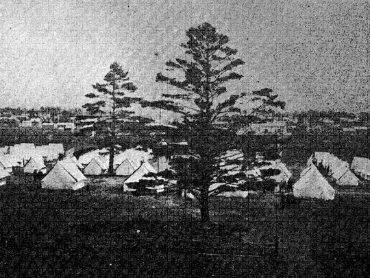 Camp Blackstock was the practice camp of the Second Regiment, Wisconsin National Guard. It was located on the western end of Michigan Ave. on Coles land between Gilman's Athletic Park and the Insane Asylum.