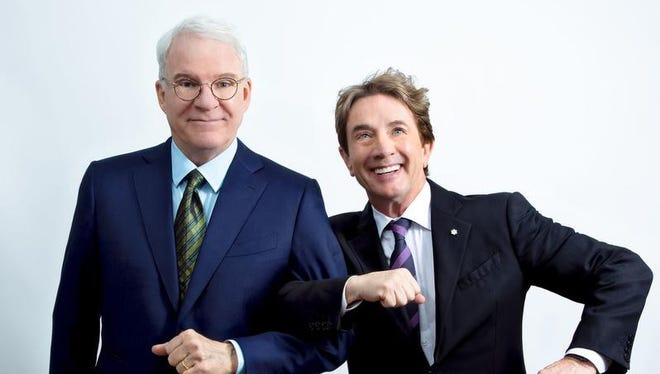 """""""An Evening You Will Forget for the Rest of Your Life,"""" a comedy special featuring Steve Martin and Martin Short and filmed for Netflix, is being performed Friday at The Show in Rancho Mirage."""