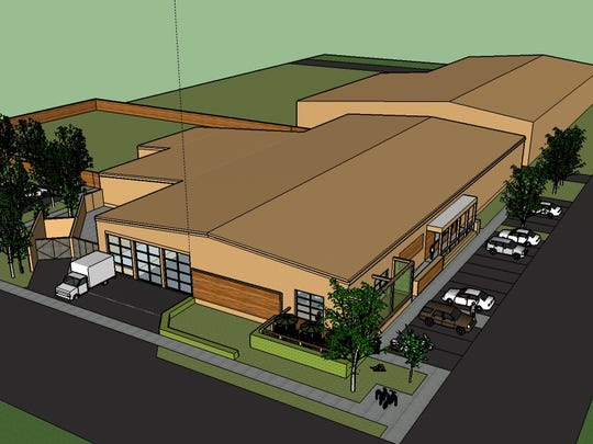 A rendering of the future home of Panther Creek Brews,
