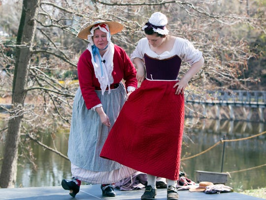 A Sheep-to-Shawl event at Philipsburg Manor in Sleepy