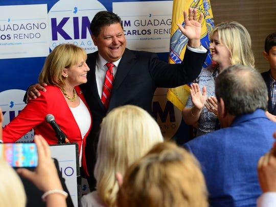 Republican candidate for governor Kim Guadagno, announces