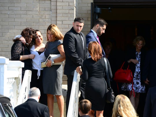 Mourners for Jennah DiSclafani, who died in a car crash,
