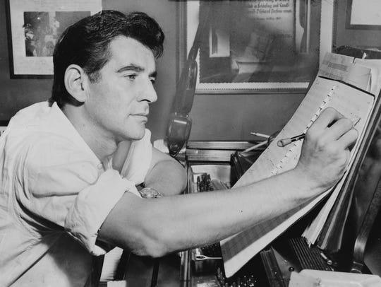 Leonard Bernstein in 1955.