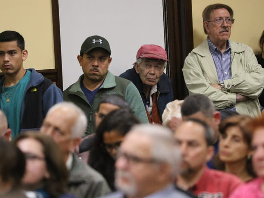 About 200 people were in Garfield City Hall for the planning board meeting on Thursday.