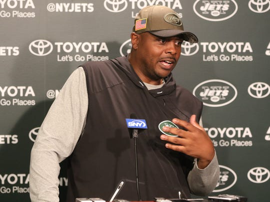 Jets Defensive Coordinator, Kacy Rodgers , speaks to the press in Florham Park, Wednesday, June 13, 2018.
