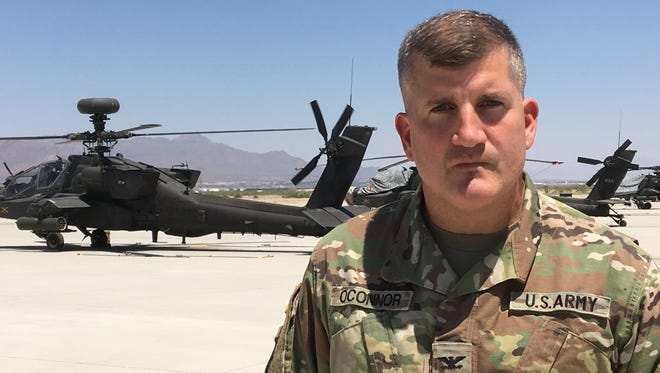 Col. Tom O'Connor, who has strong ties to El Paso and Fort Bliss, has led the Combat Aviation Brigade for the past two years. O'Connor will relinquish command on July 21.