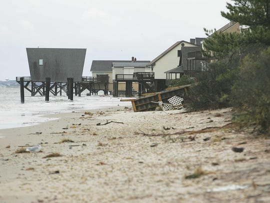 Broadkill Beach was among Delaware's coastal communities that suffered severe property damage in Superstorm Sandy. Forecasters say sea level rise will mean more damage in coastal communities.